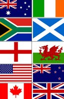 English Speaking Countries Flags - Can Stock Photo